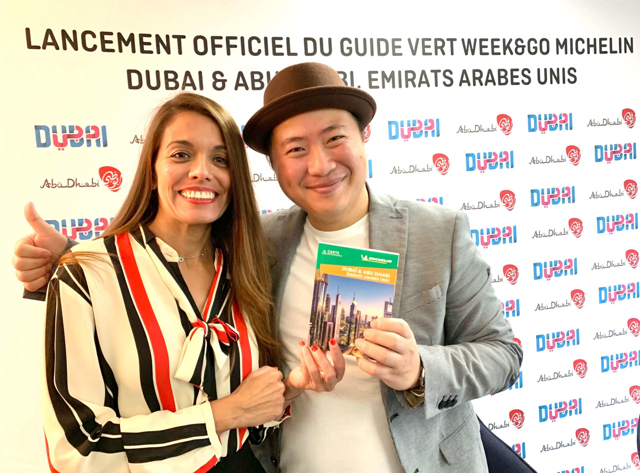 Hoang et Nora - Lancement du Guide Week&Go Michelin Dubai et Abu Dhabi